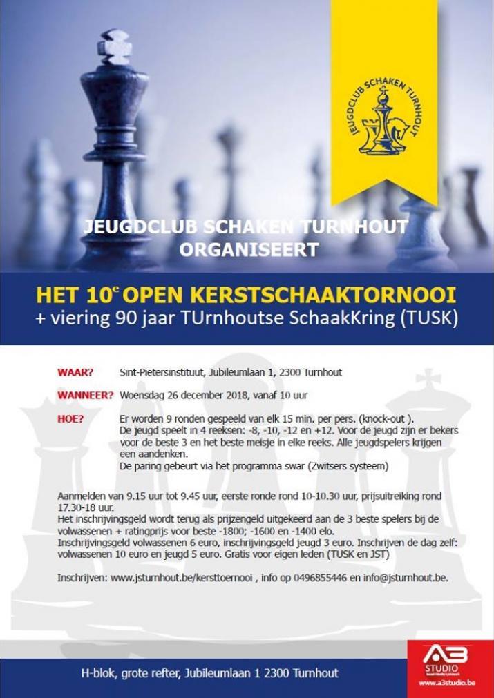 10 de Open KerstschaakToernooi Turnhout 26 december 2018 10u00