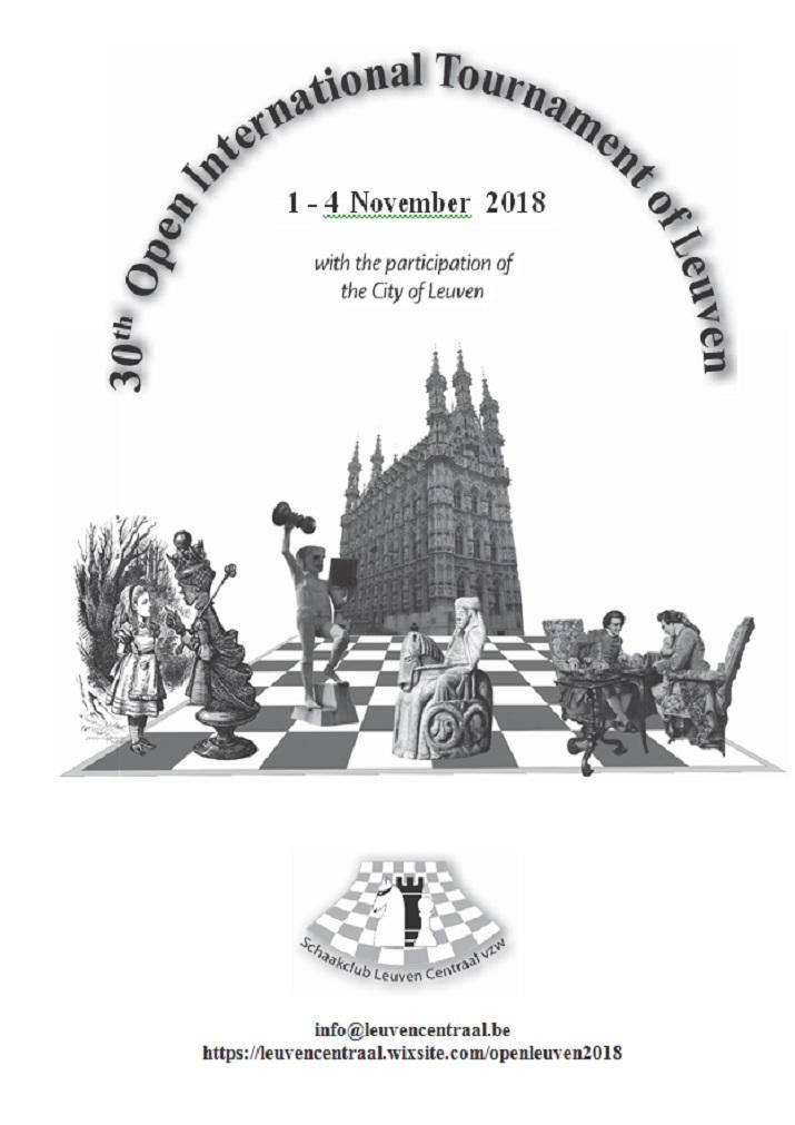 30ste Open Internationaal Toernooi van Leuven 1 - 4 november 2018