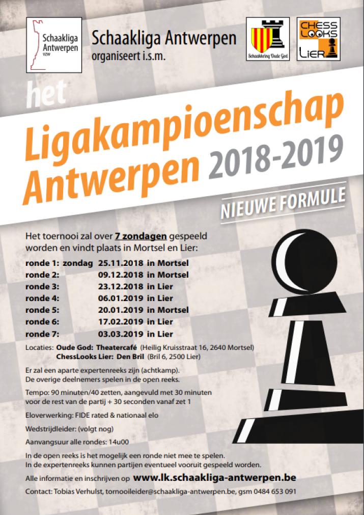 Ligakampioenschap Antwerpen 2018–2019