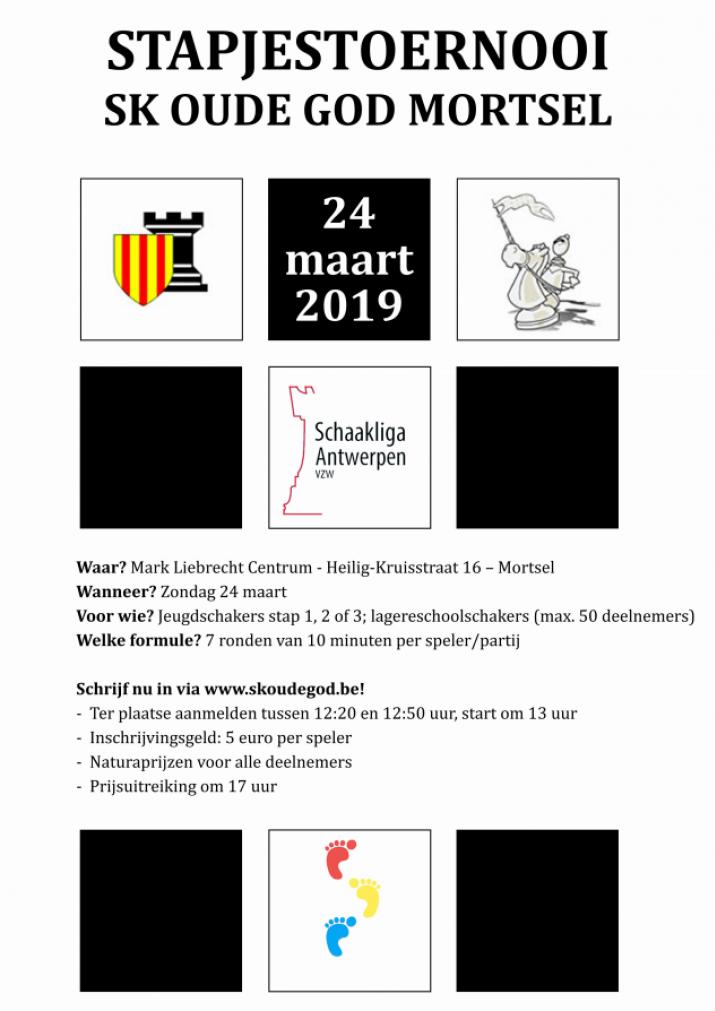 Stapjestoernooi SK Oude God Mortsel zondag 24 maart