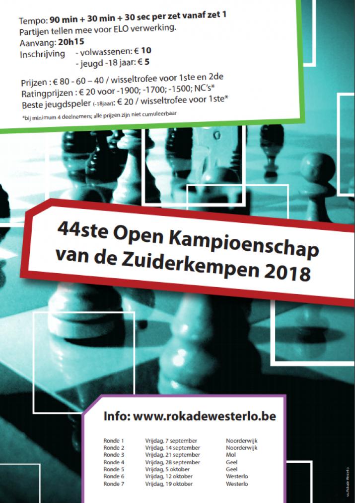 44ste Open Kampioenschap van de Zuiderkempen 2018