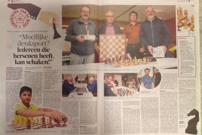 De Molse schaakclub is de vereniging van de week - GVA