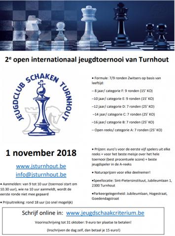 2de Open Internationaal Jeugdtoernooi van Turnhout 1 november 2018